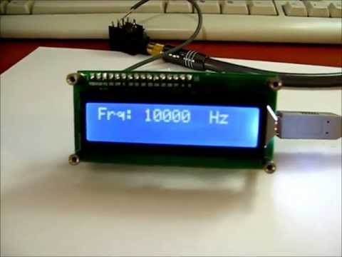 frequency-counter-diy-kit-usb-module-1Hz-50MHz.wmv