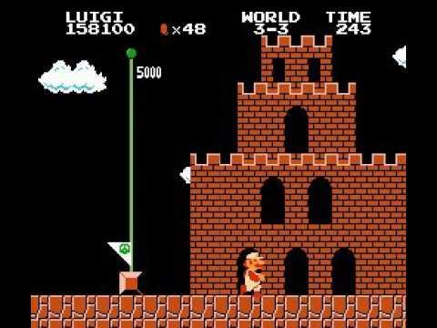 play as luigi (1 player mode) super mario bros nes game