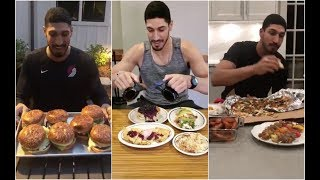 Ramadan is over so Enes Kanter has been eating a LOT !