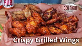 Crispy Grilled Wings on Weber | HowToBBQRight
