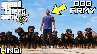 FRANKLIN'S DOG ARMY in GTA V | KrazY Gamer |