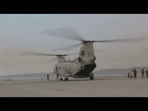 Marine Helicopters Fight Camp Pendleton Wildfires 2007