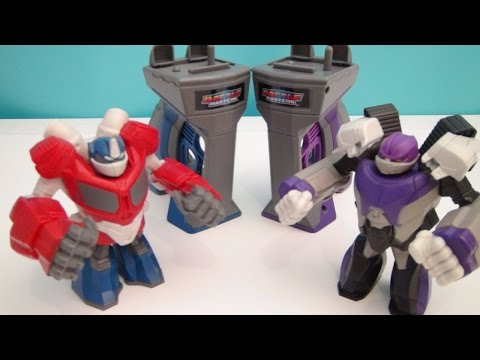 TRANSFORMERS OPTIMUS PRIME AND MEGATRON BATTLE MASTERS PLAYSET VIDEO TOY REVIEW