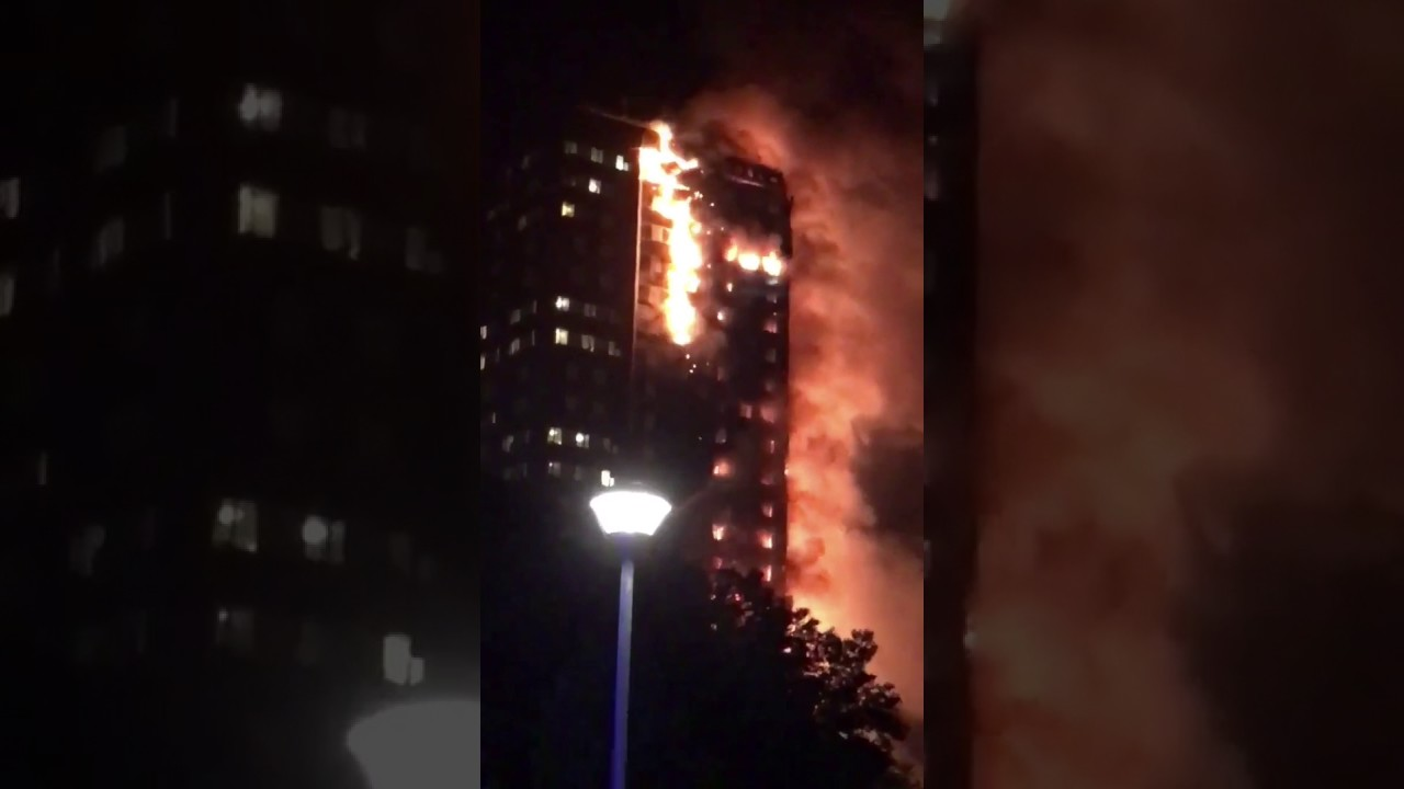 Large Fire Breaks Out At London Tower Block Youtube