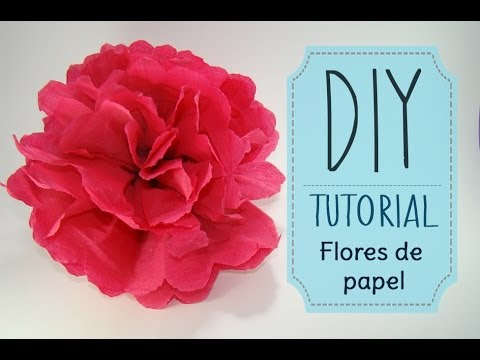 [DIY] Tutorial - Como hacer flores de papel Crepe o China