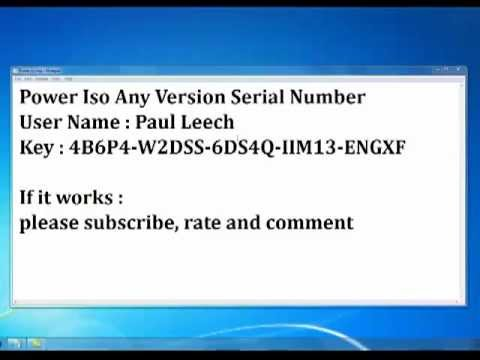 Power ISO serial Key for any version!!.. - YouTube