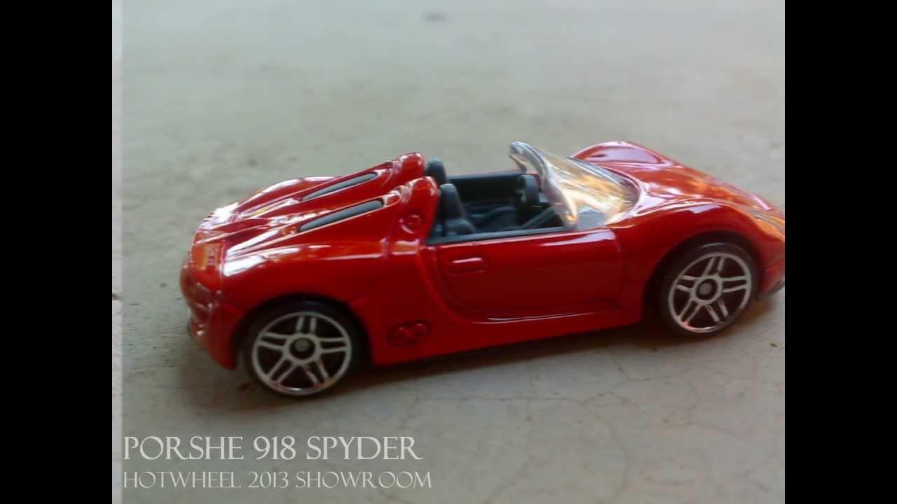 2013 hot wheels showroom porsche 918 spyder youtube. Black Bedroom Furniture Sets. Home Design Ideas