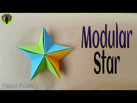 "How to make a Paper ""Modular Star"" - Very easy Origami Tutorial"
