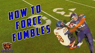 HOW TO FORCE FUMBLES IN MADDEN 19 | HOW TO STRIP THE BALL! 👍