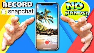 Record Snapchat WITHOUT HANDS / WITHOUT HOLDING - Snapchat Hacks 2018! (iPhone, iPad, iPod Touch)