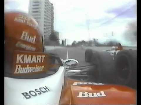 INDY AUSTRALIA 1995 PAUL TRACY ULTRAPASSA MICHAEL ANDRETTI