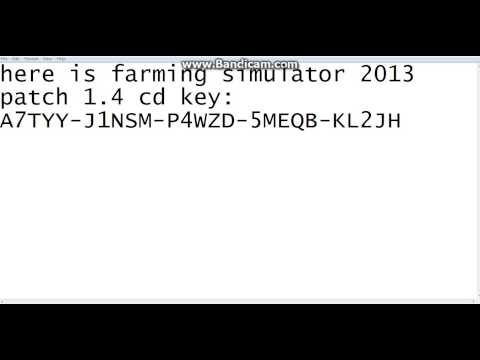 FARMING SIMULATOR 2013 PATCH 1.4 CD KEY