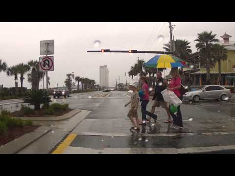 Panama City Beach, Florida - Rainy drive 3/3/2012