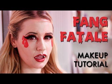 Fang Fatale Halloween Makeup Tutorial | Vampire Makeup