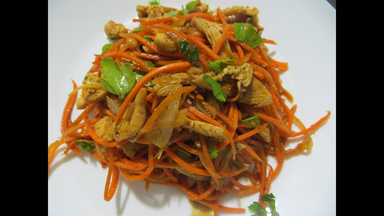 Салат с морковью по-корейски с фасолью рецепт