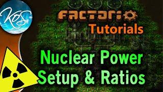 Factorio Tutorials: 0.15 Nuclear Power Setup & Ratios (Uranium processing, Kovarex process)