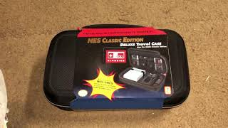 Unboxing NES classic travel case