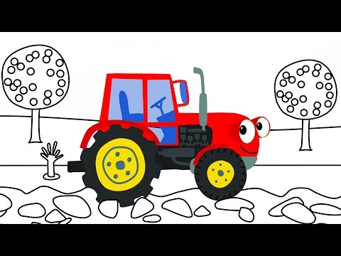 Раскраски видео трактор