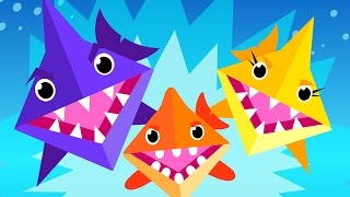 Origami Baby Shark!   Kids Songs   by Little Angel