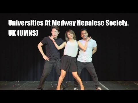 Inter-Uni Nepalese Dance Competition 2014 (Universities At Medway Nepalese Society, UK) UMNS