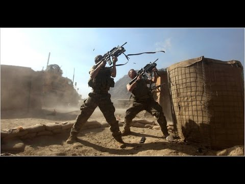 US Army in Afghanistan Defending their Outpost In A Close Combat With Taliban HD