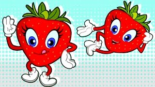 Strawberry Fruit Song - Nursery Rhymes for Children | Chikaraks