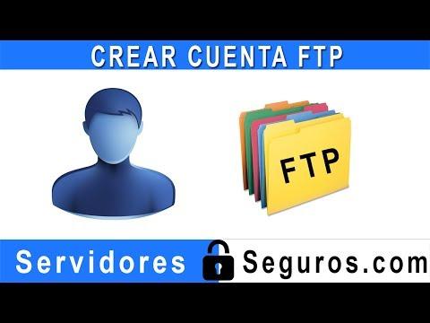CREAR CUENTA FTP
