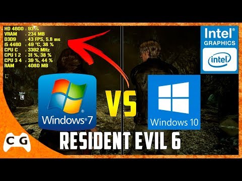 Resident Evil 6 Na Intel HD Graphics Teste Comparativo Windows 7 vs Windows 10 #433