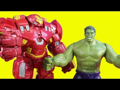 Marvel Interactive Titan Hero Tech Hulk & Hulk Buster Toy Battle Iron Man