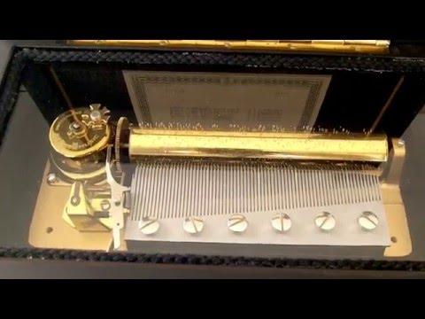 VINTAGE SWISS REUGE MUSIC BOX 72 KEY 3 SONGS MUSIC