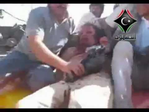 REAL VIDEO of Muammar Qaddafi/Gaddafi Captured and Alive Before Death