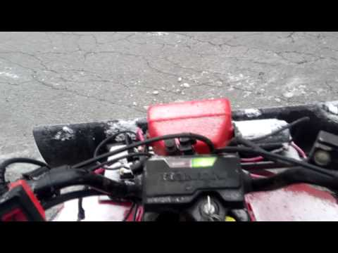 Can a 2x4 ATV Plow Heavy Snow? (honda Trx200SX) - HQ -
