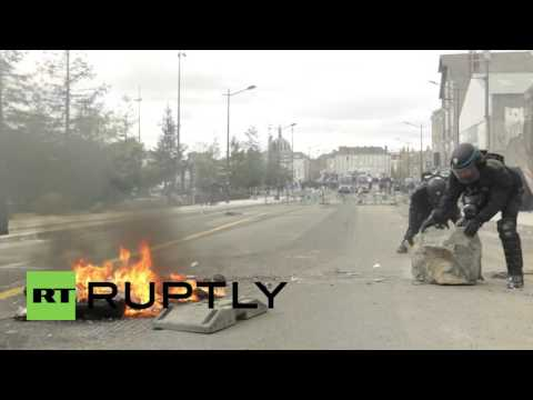 France: Police unleash tear gas, detain protesters in Nantes