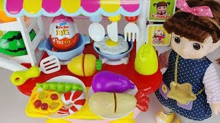 Baby doll and kitchen food car toys surprise eggs play 아기인형 주방 음식 자동차 서프라이즈 에그 장난감놀이 - 토이몽