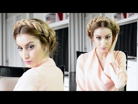 Milkmaid Rope Braided Hairstyle | Fancy Hair Tutorial