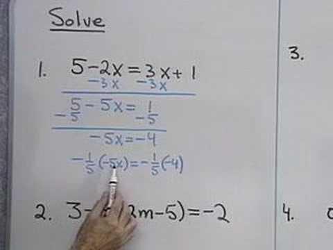 Examples of Algebraic Equations Algebra Linear Equations in
