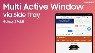 01. Multi-task with Multi Active Window on the Galaxy Z Fold2 | Samsung US