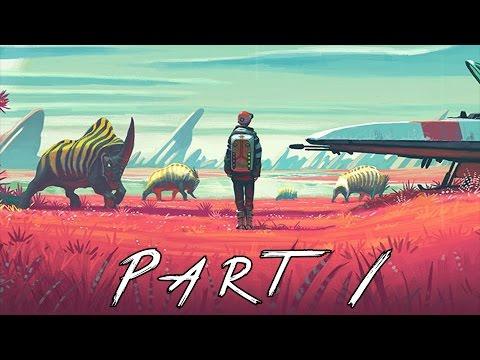 No Man's Sky Walkthrough Gameplay Part 1 - Planets (PS4)