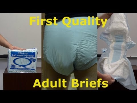 First Quality adult diaper briefs look