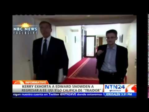 John Kerry pide a Snowden regresar al país y afrontar a la justicia estadounidense