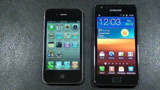 "Apple iPhone 4 vs Samsung Galaxy S 2 ""Face Off"""