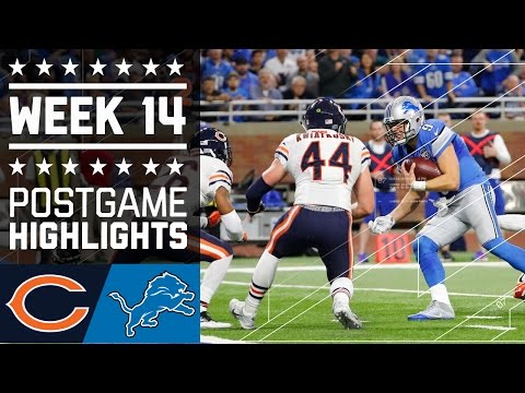Bears Vs Lions Nfl Week 14 Game Highlights