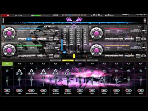 Skin Eletro Purple Para Virtual DJ 7  Personalizado 2013
