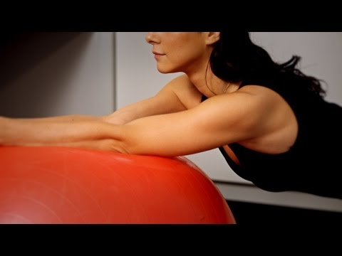 Back Pain Relief Exercises: Swiss Ball Stabilizing Exercise