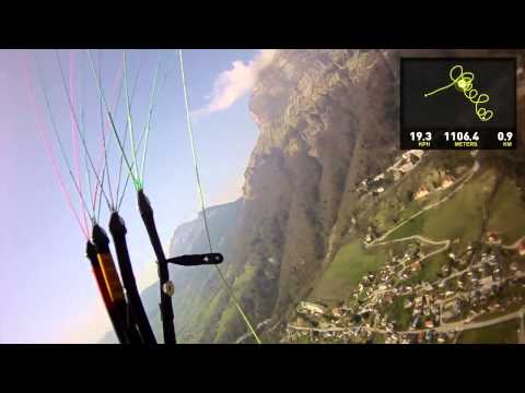 110411 Paragliding Saint Hilaire Video