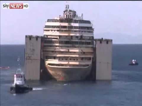 Time Lapse: Costa Concordia Under Tow