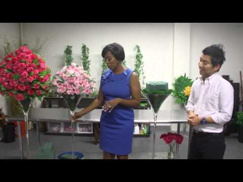 HOW-TO-VIDEO: Wedding Flower Arrangements with Roses