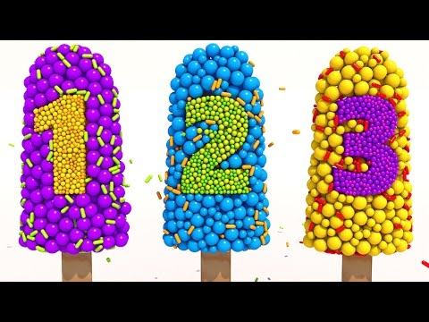 Learn Numbers with 3D Popsicle for Children Kids 1-10