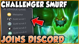 WHAT HAPPENS WHEN A CHALLENGER SMURF JOINS CALL WITH RANDOM GOLD TEAMMATES - League of Legends
