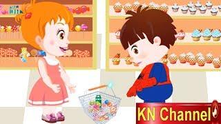 Hoạt hình KN Channel BÉ NA ĐI SIÊU THỊ MUA KẸO | Hoạt hình Việt Nam | GIÁO DỤC MẦM NON